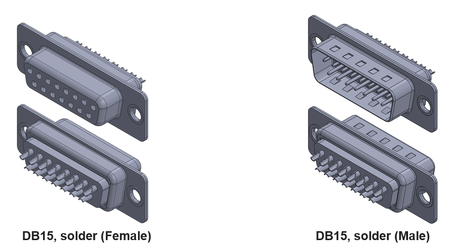 DB15 Connector with Soldered Contacts