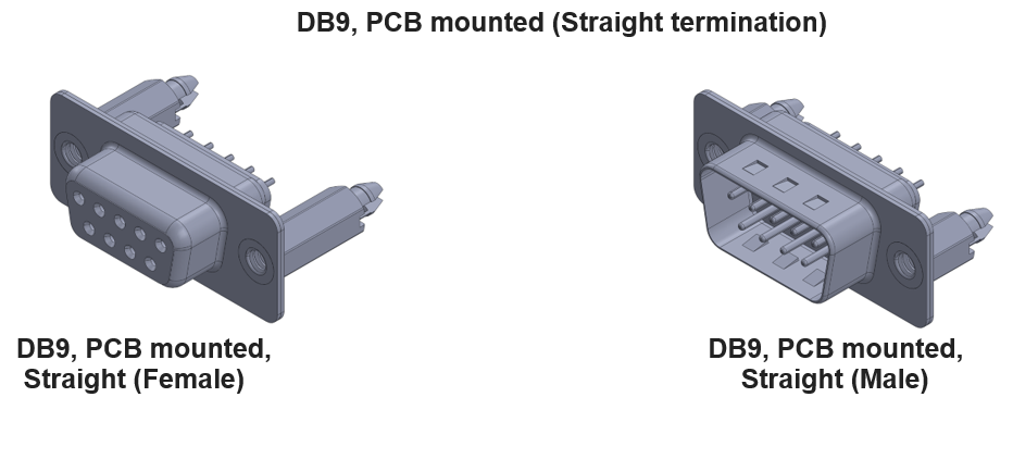 DB9 CONNECTOR STRAIGHT TERMINATION
